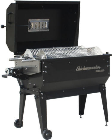 The Party Pro charcoal rotisserie grill by Chickenmaster Grills